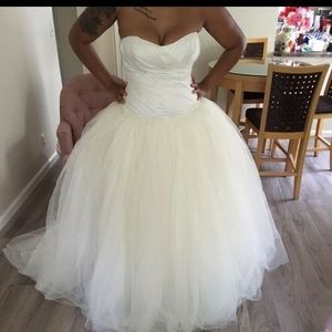Vera Wang Size 14 Tulle ivory wedding dress NEW